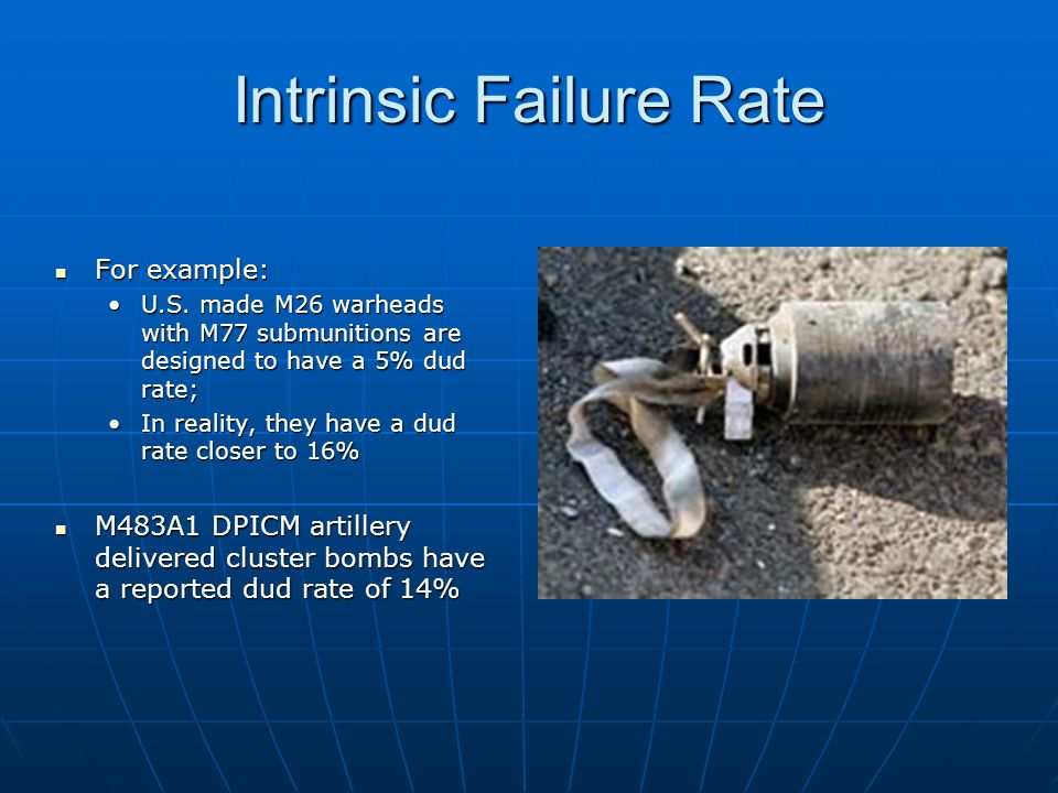 Intrinsic Failure Rate For example: For example: U.S.