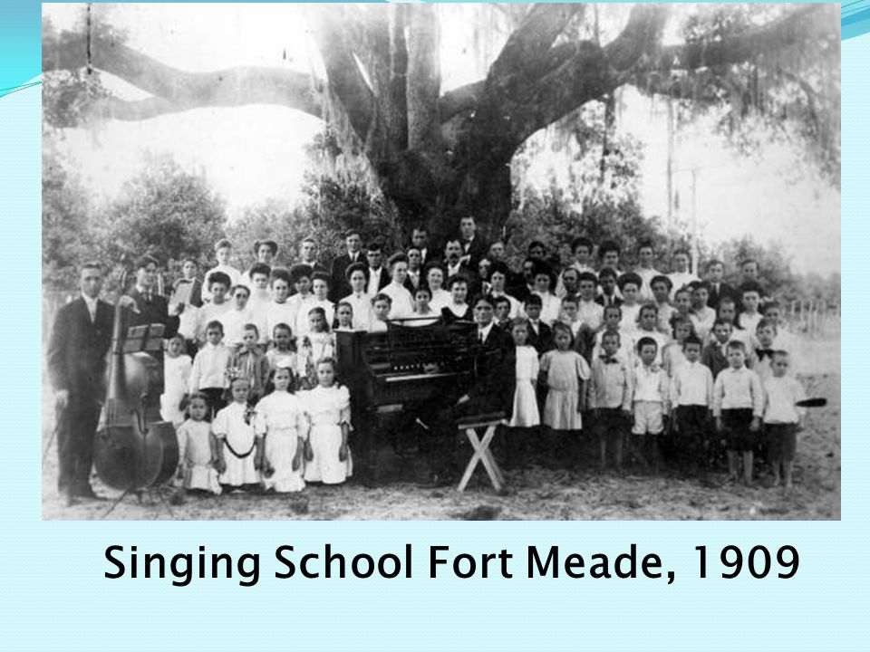 Singing School Fort Meade, 1909