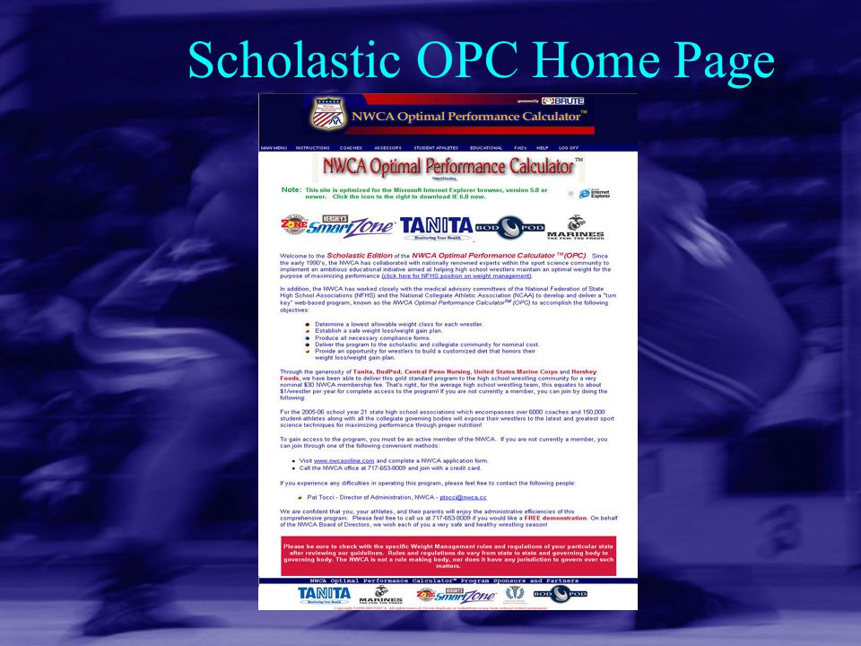 Scholastic OPC Home Page