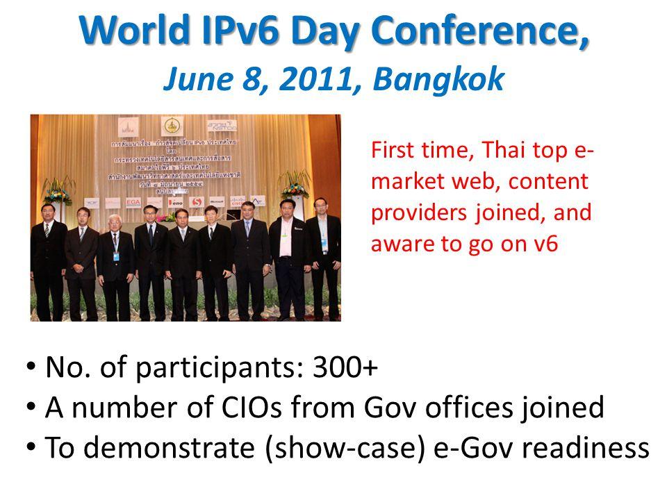 World IPv6 Day Conference, World IPv6 Day Conference, June 8, 2011, Bangkok No.