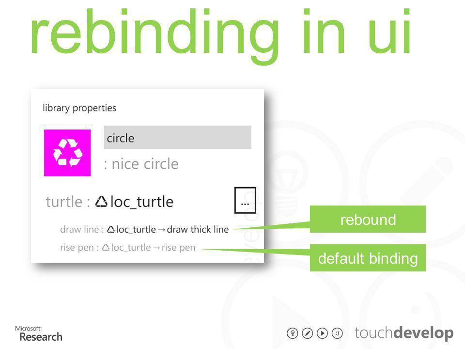 rebinding in ui default binding rebound