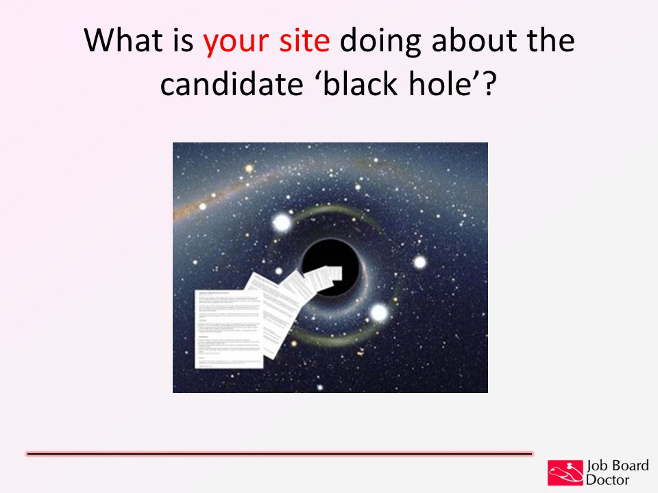What is your site doing about the candidate 'black hole'?