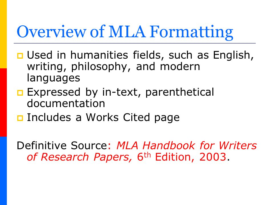Why Document Sources in MLA Format.