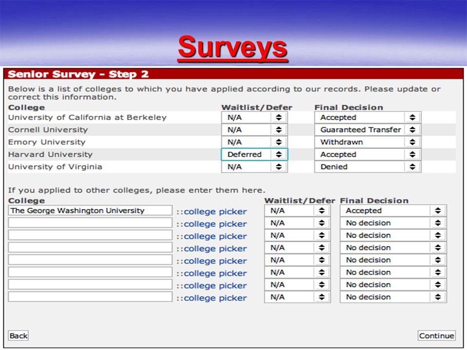 25 Surveys