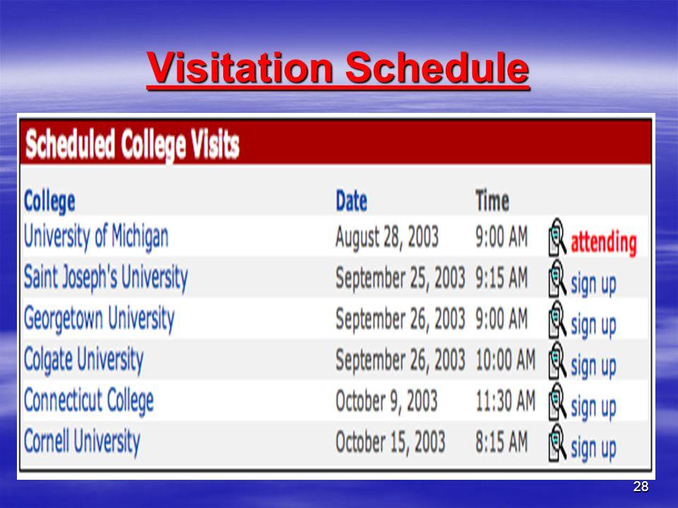 28 Visitation Schedule