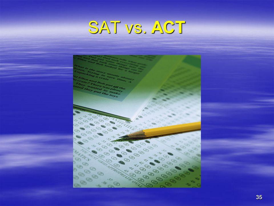 35 SAT vs. ACT