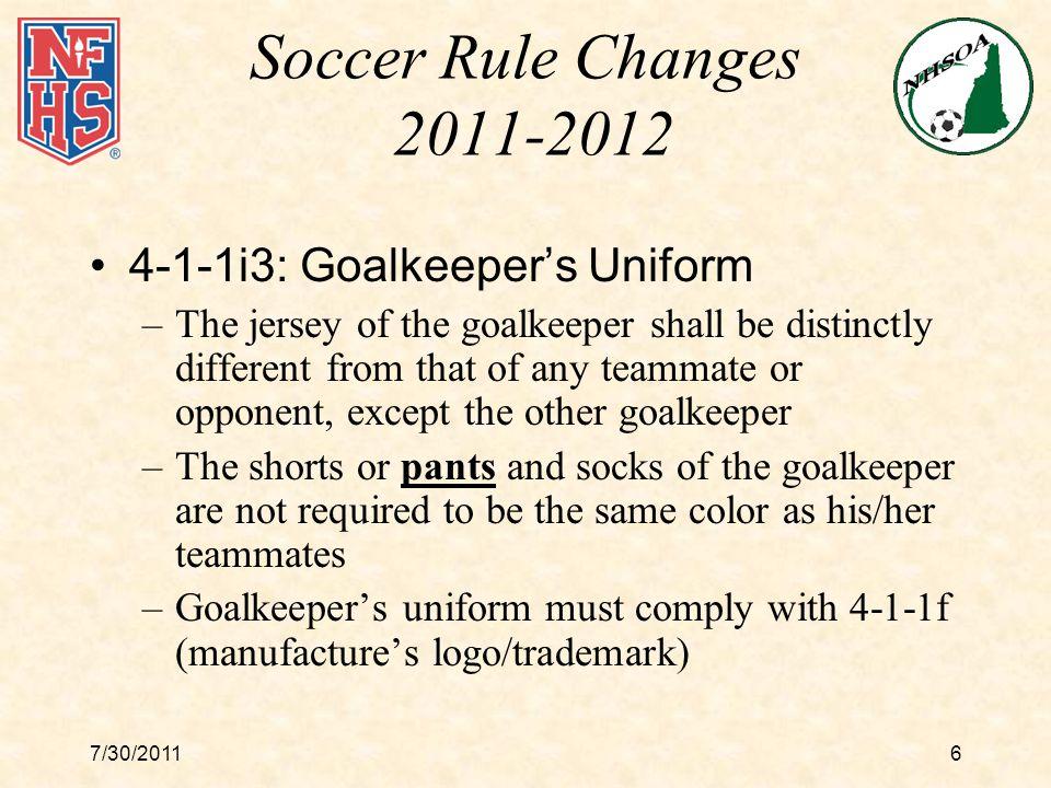 7/30/201117 Legal Home Team Uniforms Starting Fall 2013