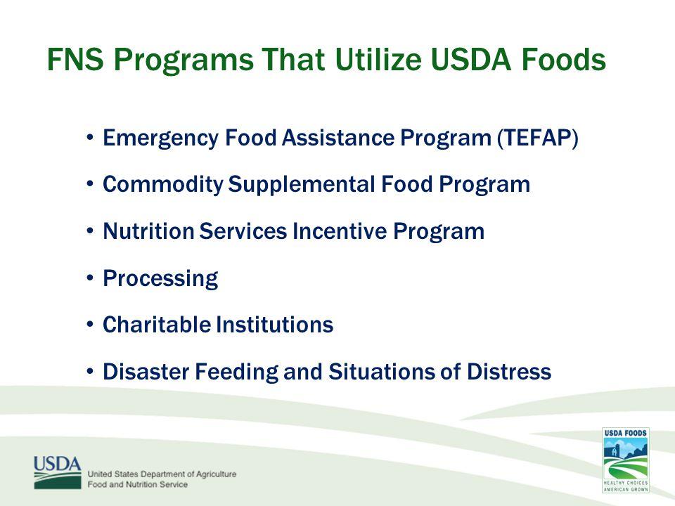 FY 12 - USDA purchased 1.1 billion lbs of foods valued at over $1.4 billion FY 12 – NJ NSLP – 31.2 million pounds of food valued at $32.1 million USDA Foods: NSLP Year in Revie w