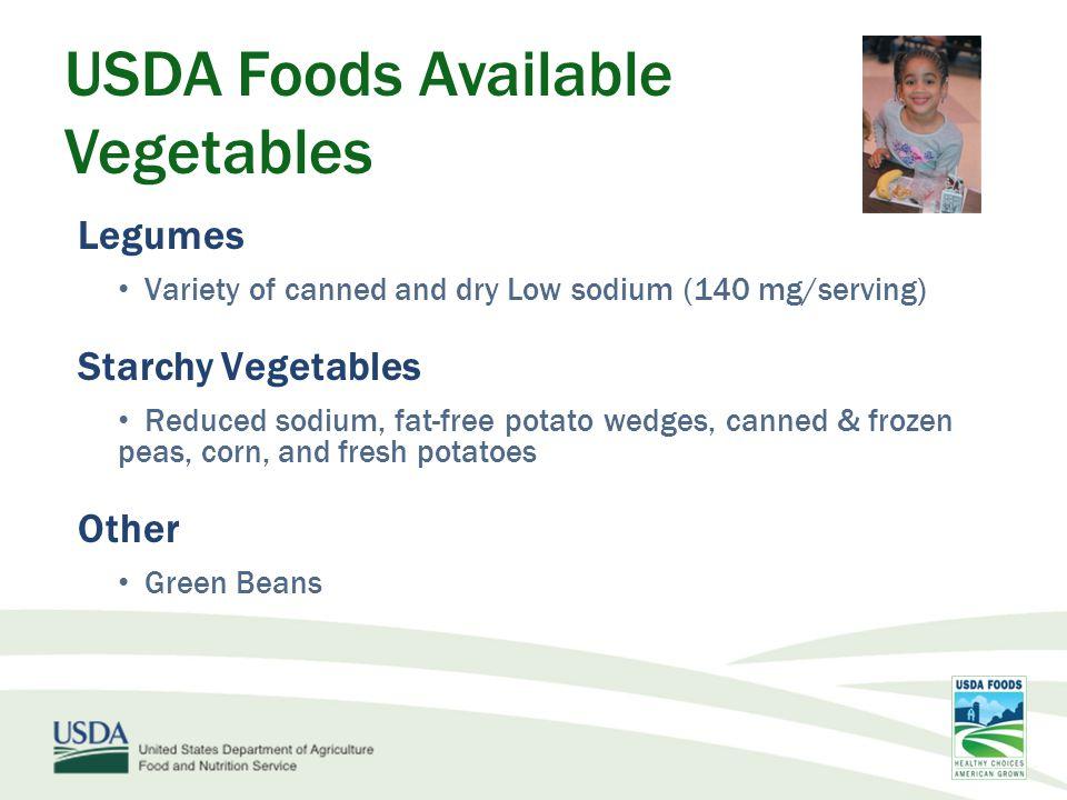 USDA Foods Help Schools Meet New Requirements: Fresh Cut Program Expansion Baby Carrots Sliced Apples Department of Defense (DoD) Fresh Fruit and Vegetable Program