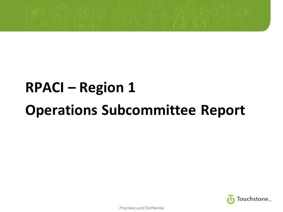 TM Proprietary and Confidential RPACI – Region 1 Operations Subcommittee Report