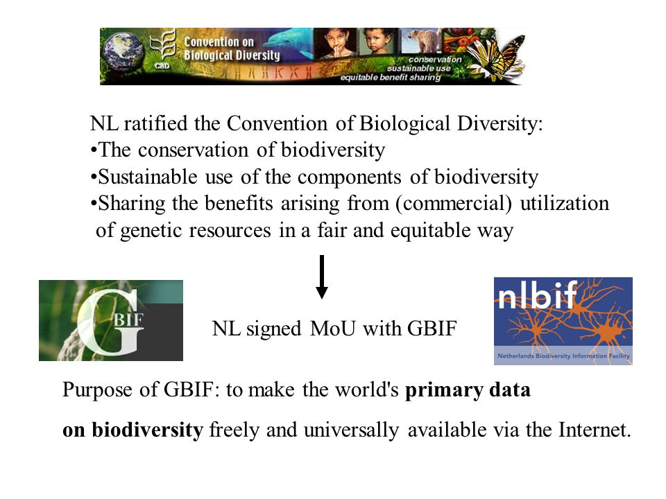 Both biodiversity and biodiversity data are unevenly distributed around the world: Developing World Biodiversity Biodiversity Data Developed World GBIF was established, in large part, to redress the inequality of data distribution