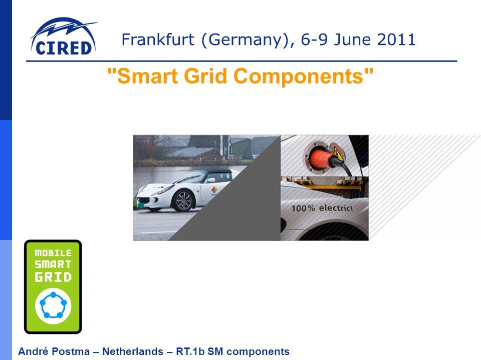 Frankfurt (Germany), 6-9 June 2011 André Postma – Netherlands – RT.1b SM components SMART GRIDS Are we speaking the same language?