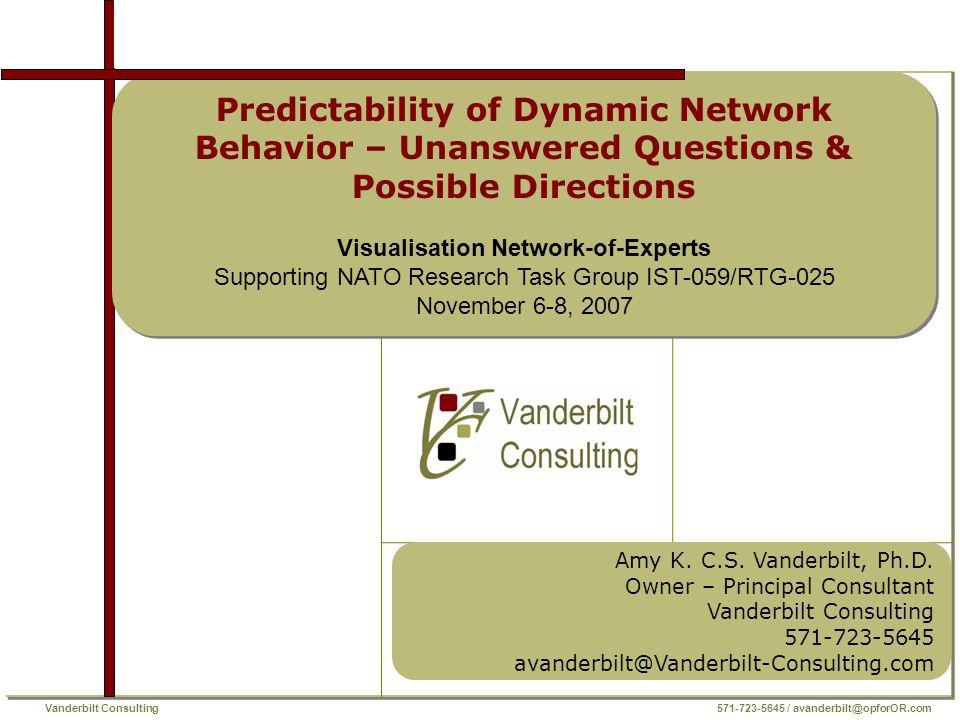 Vanderbilt Consulting 571-723-5645 / avanderbilt@opforOR.com Amy K.