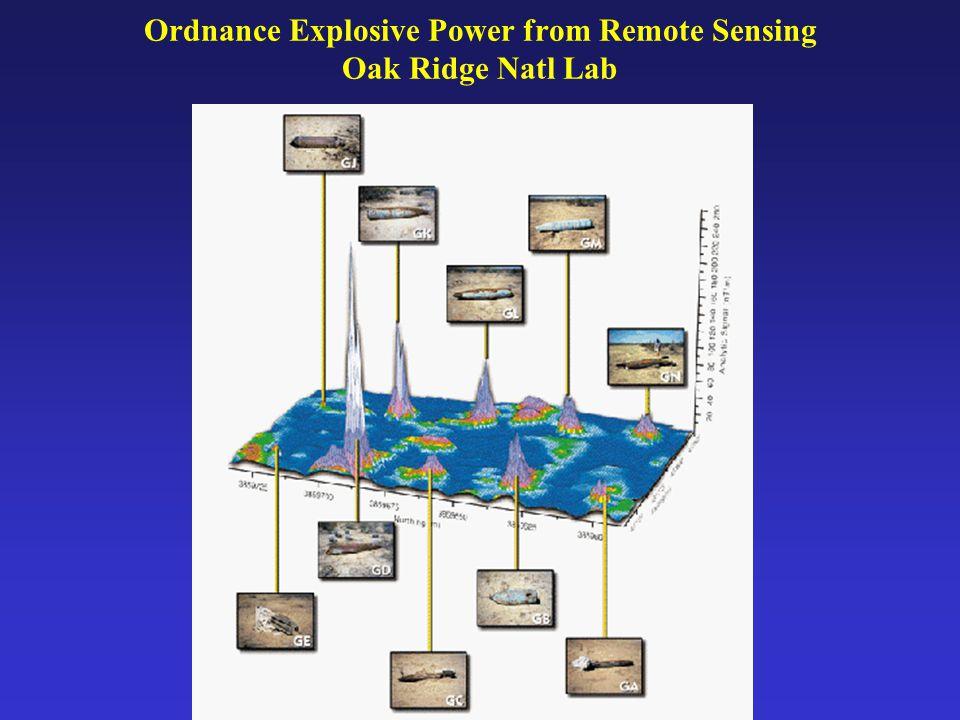 Ordnance Explosive Power from Remote Sensing Oak Ridge Natl Lab