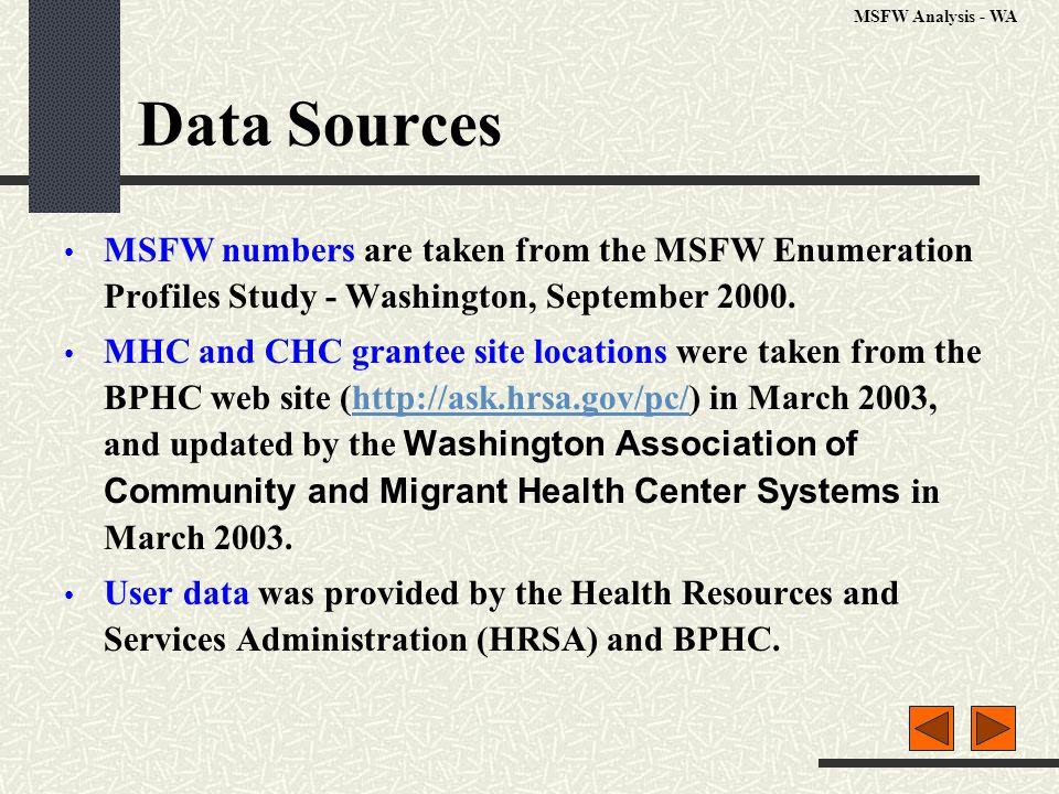 % Minority Population Data source: US Census 2000 MSFW Analysis - WA