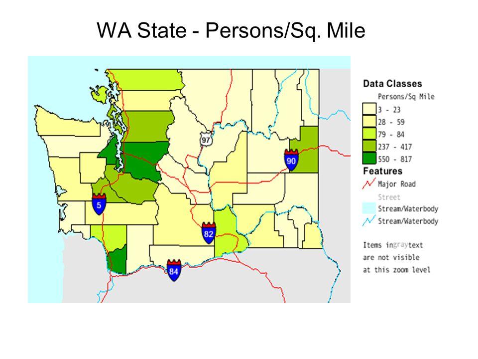 WA State - Persons/Sq. Mile