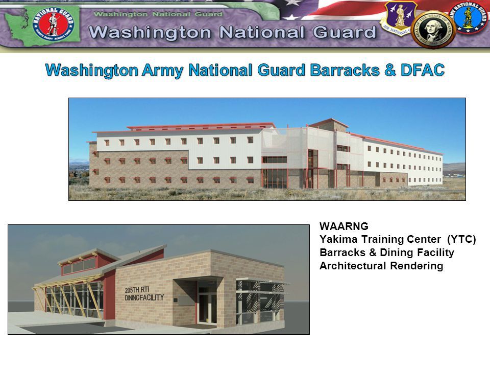 WAARNG Yakima Training Center (YTC) Barracks & Dining Facility Architectural Rendering