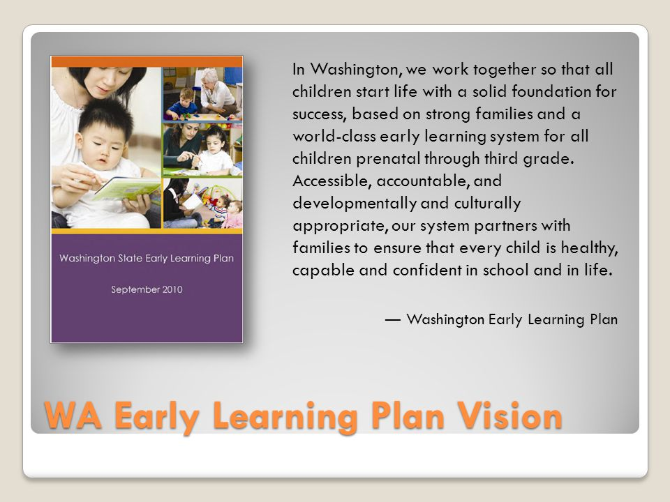  Opportunity Gap: Evidence of the opportunity gap can be seen in children less than a year old  WaKIDS: When looking at 2012 WaKIDS results by racial groups, the range of students with the characteristics and skills of entering kindergartners in cognitive development spanned from 62% to 80%  State Testing: In 3 rd grade reading, white and Asian/Pacific Islander students outperformed Black, Hispanic and American Indian students by 21-27 percentage points on the 2011-12 state exam Racial Inequities Begin Early