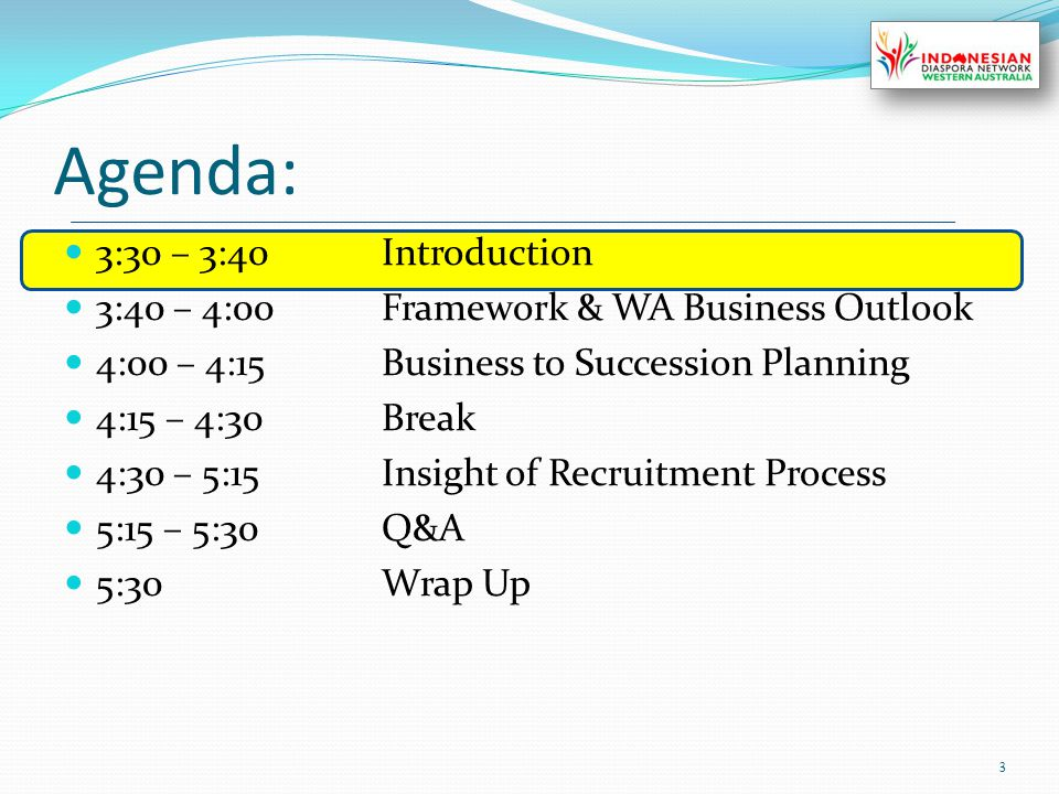 IDN-WA Main Programs: External Relations 4 Workforce & People Development Science & Technology Social & Culture Internal Relations