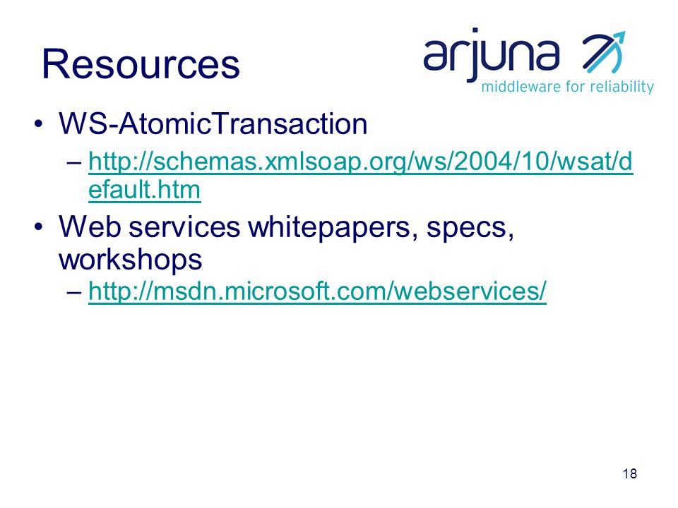 18 Resources WS-AtomicTransaction –http://schemas.xmlsoap.org/ws/2004/10/wsat/d efault.htmhttp://schemas.xmlsoap.org/ws/2004/10/wsat/d efault.htm Web services whitepapers, specs, workshops –http://msdn.microsoft.com/webservices/http://msdn.microsoft.com/webservices/