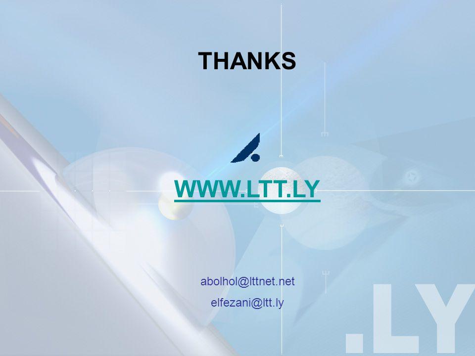 THANKS WWW.LTT.LY abolhol@lttnet.net elfezani@ltt.ly