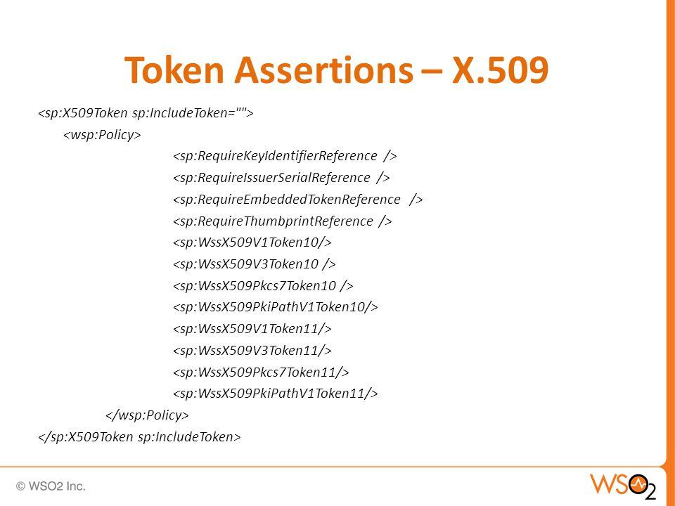 Token Assertions – X.509