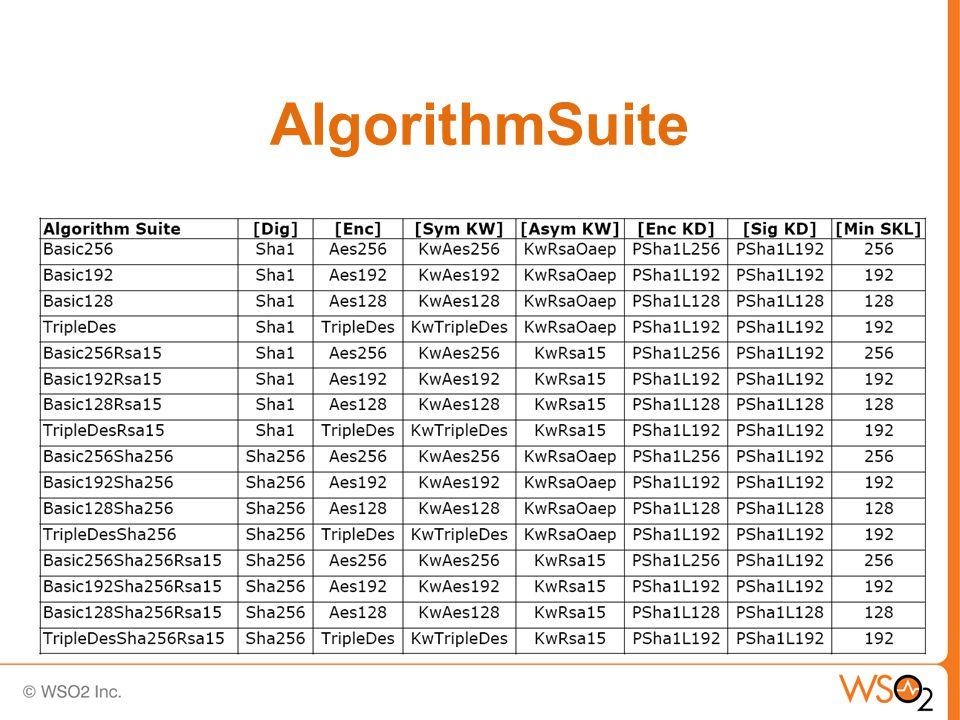 AlgorithmSuite