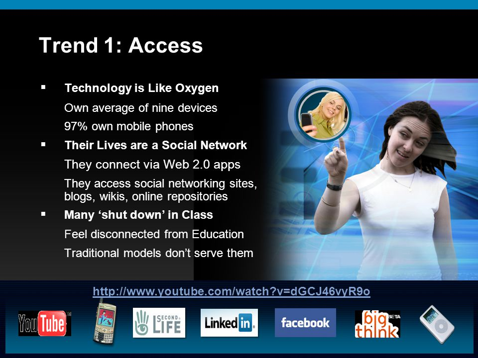 © 2009 Cisco Systems, Inc. All rights reserved.Cisco ConfidentialPresentation_ID 9 Trend 1: Access  Technology is Like Oxygen Own average of nine dev