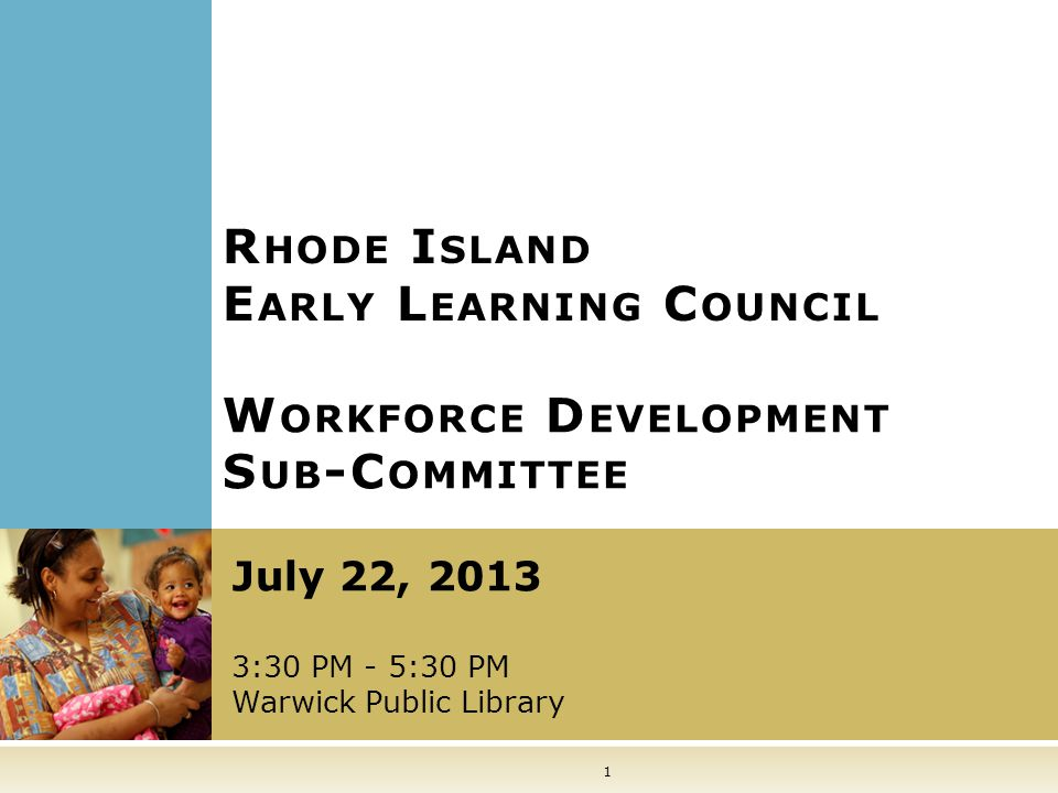 22 M EETING A GENDA Welcome, Introductions, and Meeting Overview Current and Upcoming Projects Workforce Knowledge and Competencies Workforce Study Sub-committee Membership Public Comment Summary and Next Steps