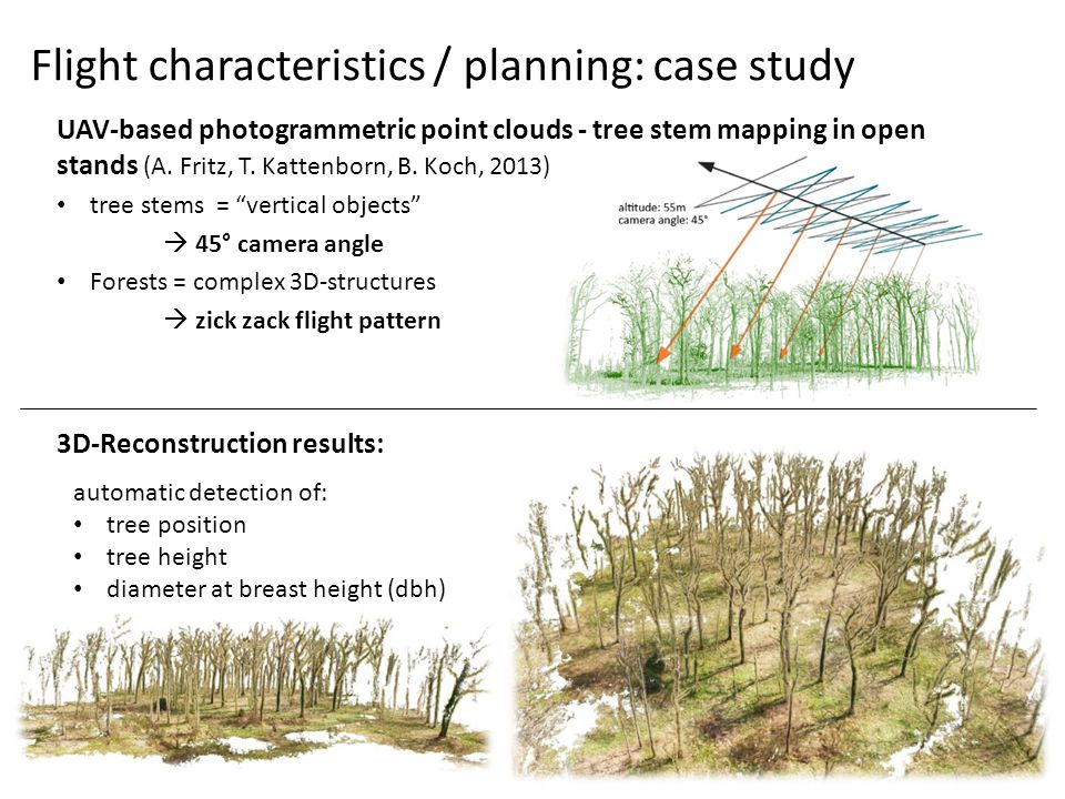 UAV-based photogrammetric point clouds - tree stem mapping in open stands (A.