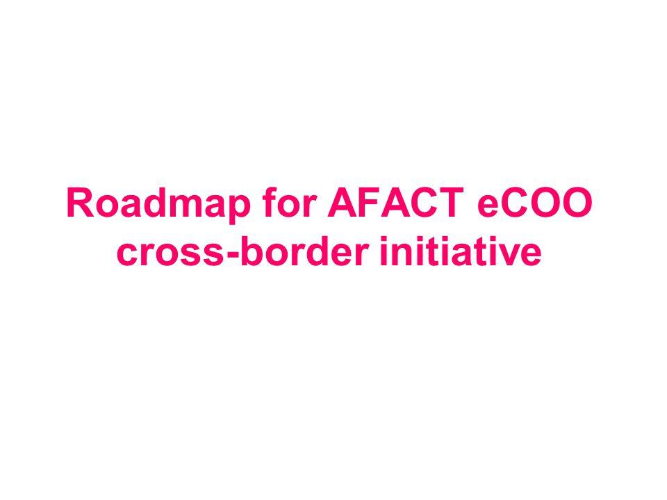 Roadmap for AFACT eCOO cross-border initiative