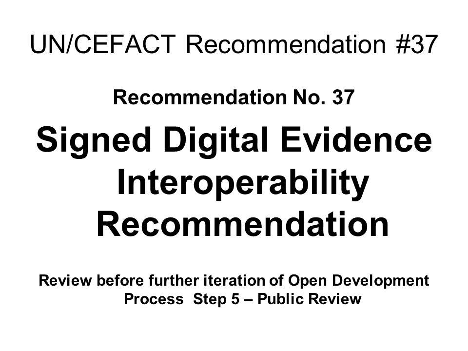 UN/CEFACT Recommendation #37 Recommendation No.