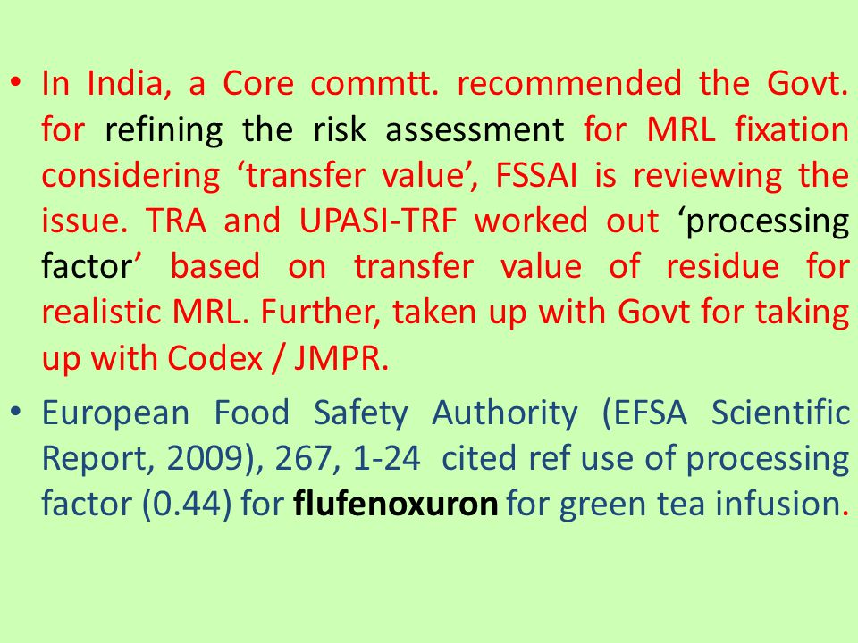 In India, a Core commtt. recommended the Govt.