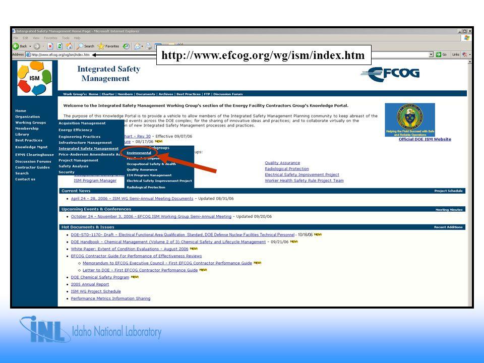 http://www.efcog.org/wg/ism/index.htm