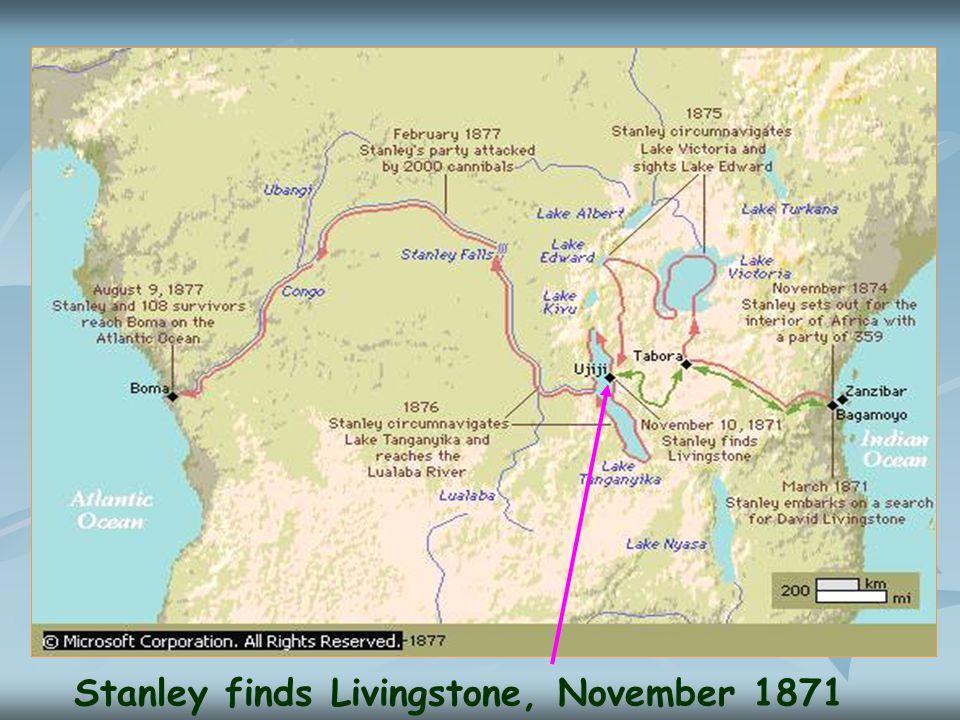 Stanley finds Livingstone, November 1871