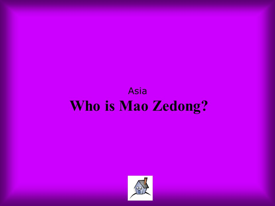 Asia Who is Mao Zedong?