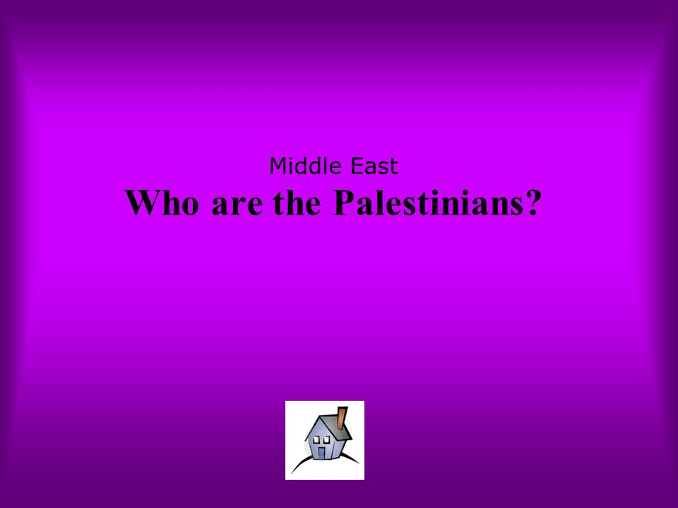 Middle East Who are the Palestinians?