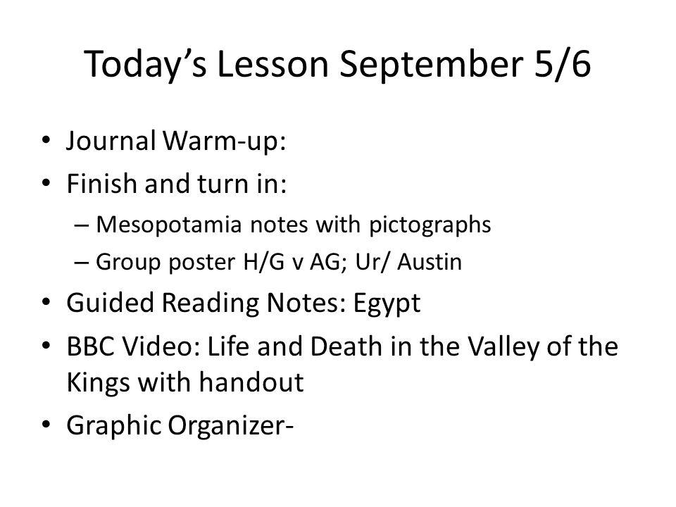 Warm-up September 5/6 Text p.
