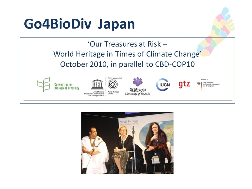Go4BioDiv India 2012 'Conserving coastal and marine biodiversity for sustaining life and livelihood' October 2012, in parallel to CBD-COP11
