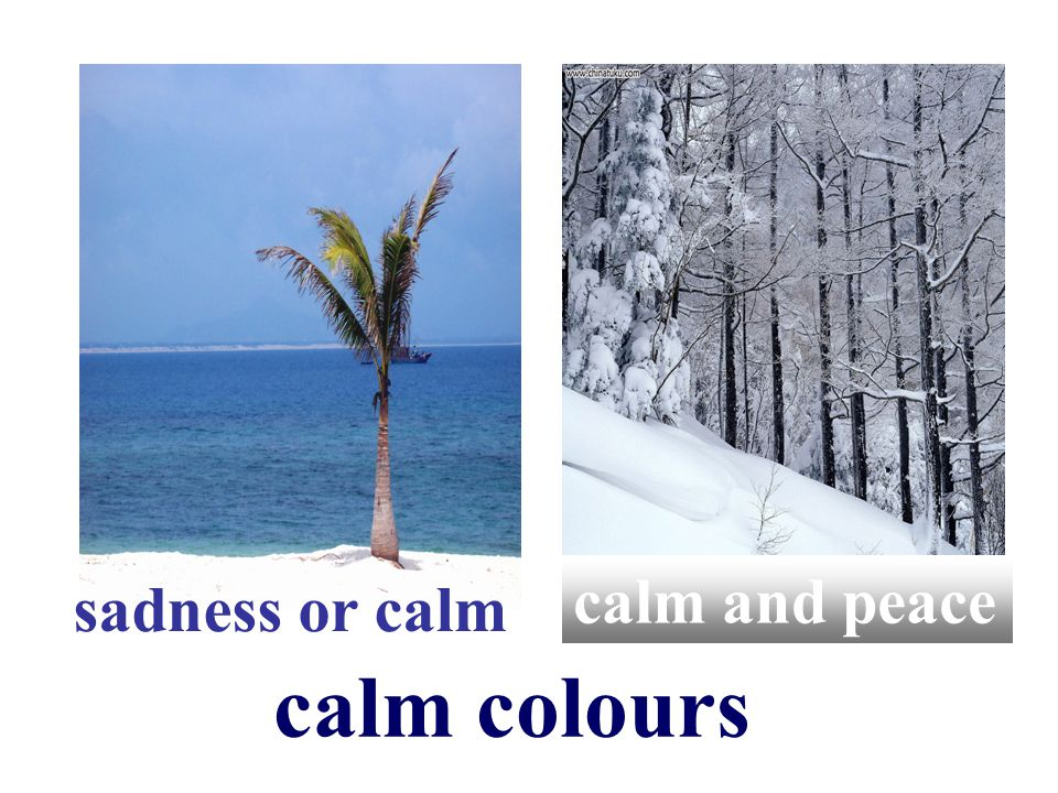 sadness or calm calm and peace calm colours