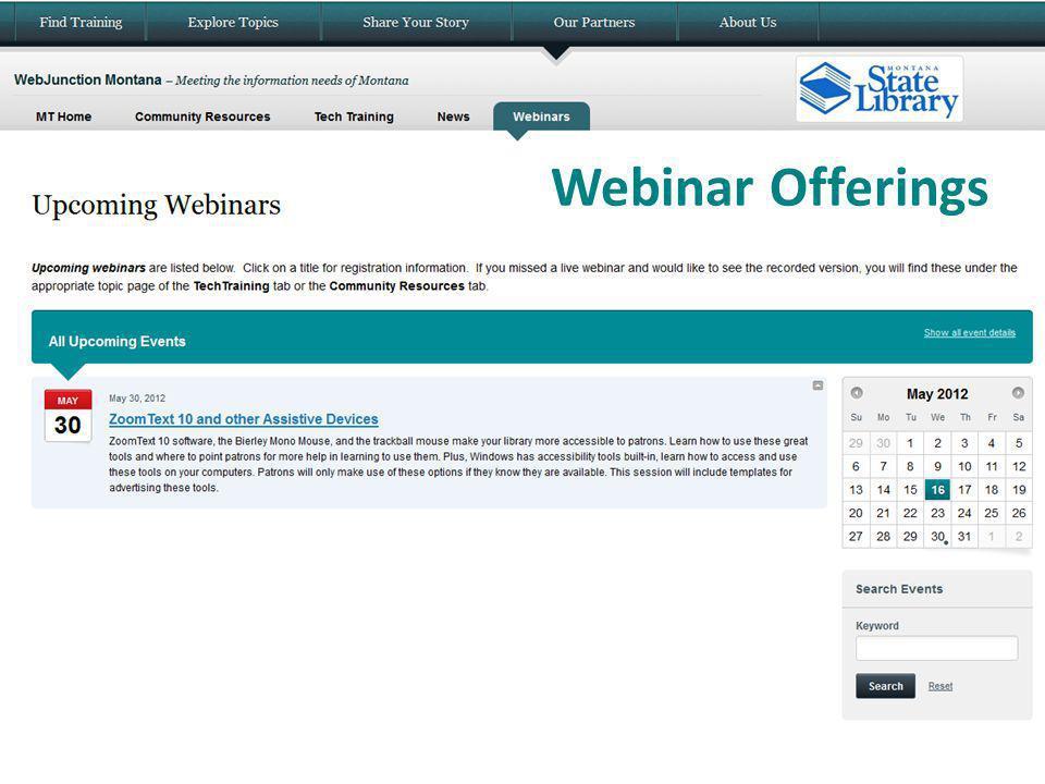 Webinar Offerings