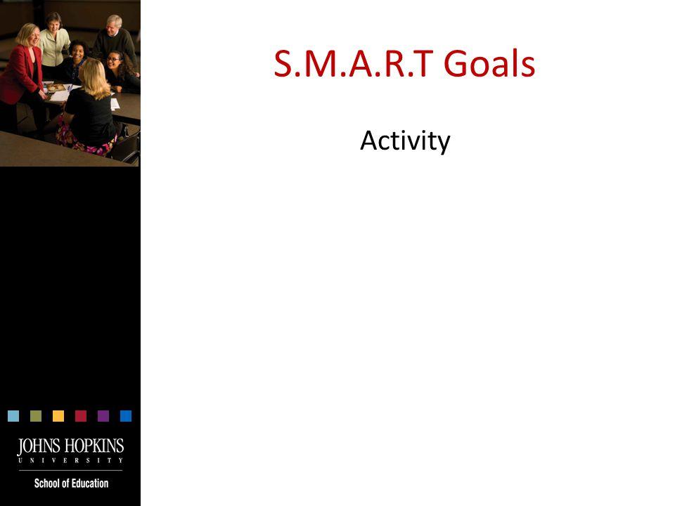 S.M.A.R.T Goals Activity