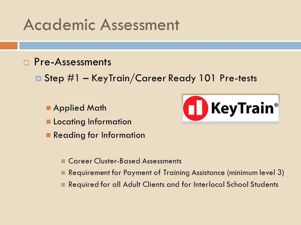 KT/WK Goals CR101's KeyTrain pretests are an indicator of your current skills as compared to the skills necessary for success in your chosen career field.
