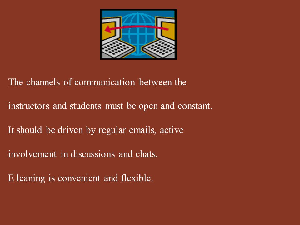 It is the responsibility of the instructor to create and maintain the online environment, levels of respect, concern for learning, etc..