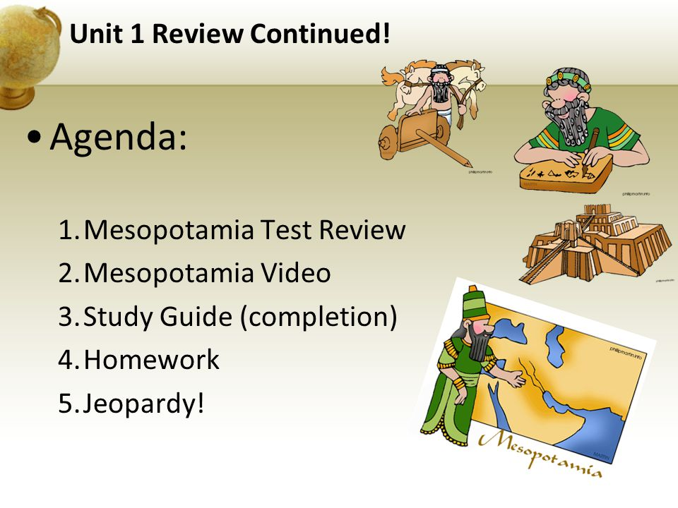 Unit 1 Review Continued.