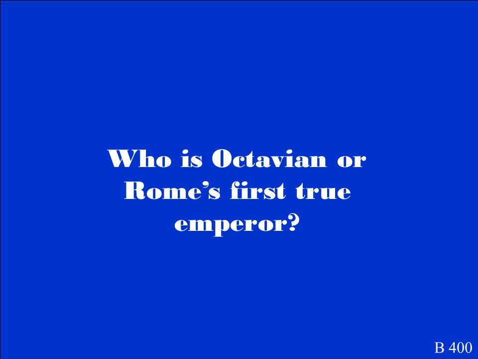 August Caesar. B 400
