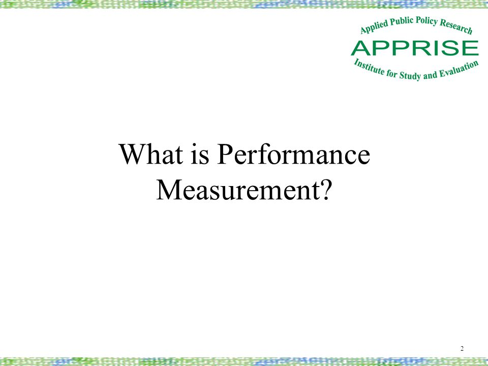 What is Performance Measurement 2