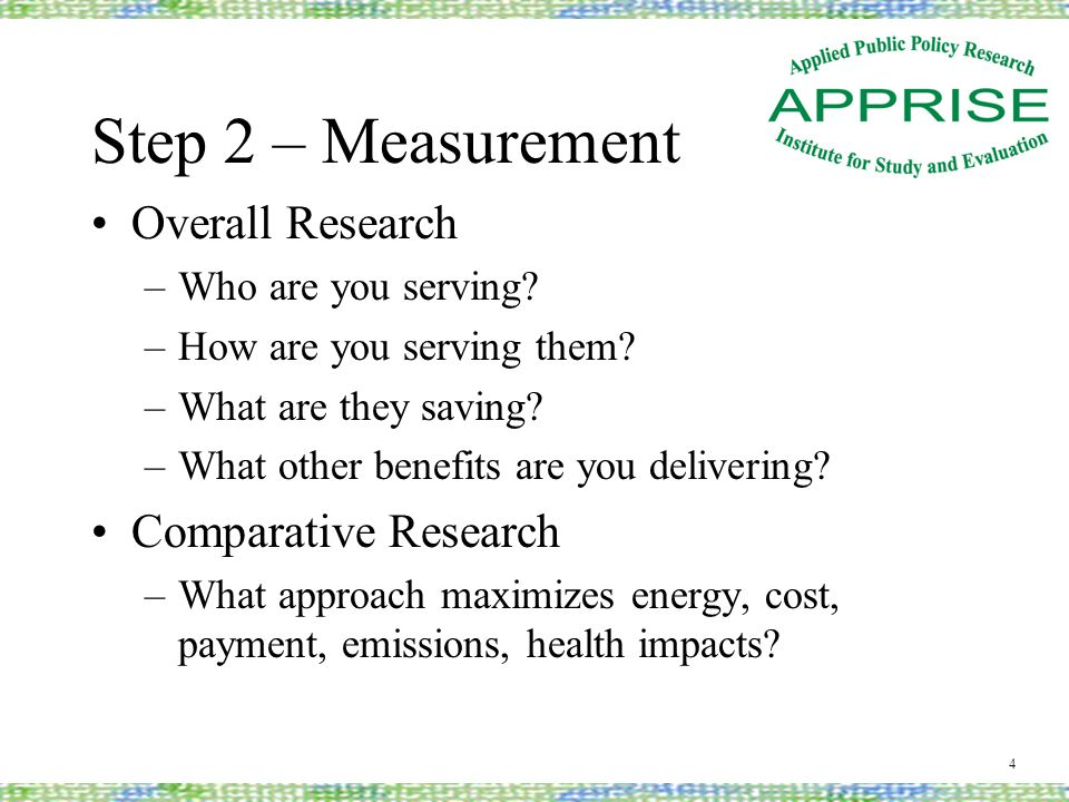 Step 3 - Assessment Assessment –What are your goals for your program.