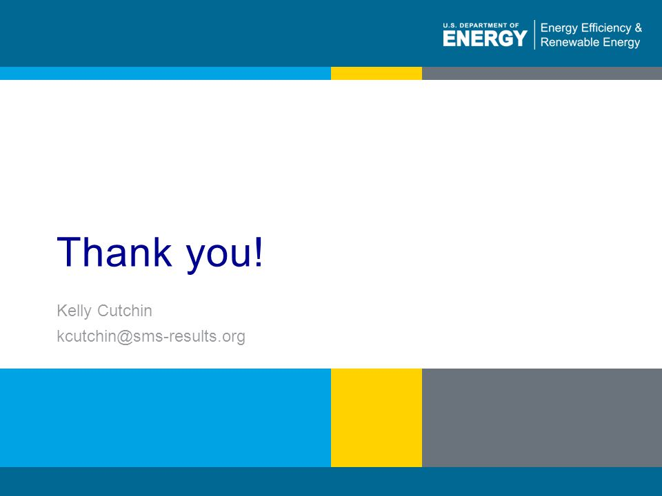 96 | WEATHERIZATION ASSISTANCE PROGRAM STANDARDIZED CURRICULUM – August 2010eere.energy.gov Thank you.