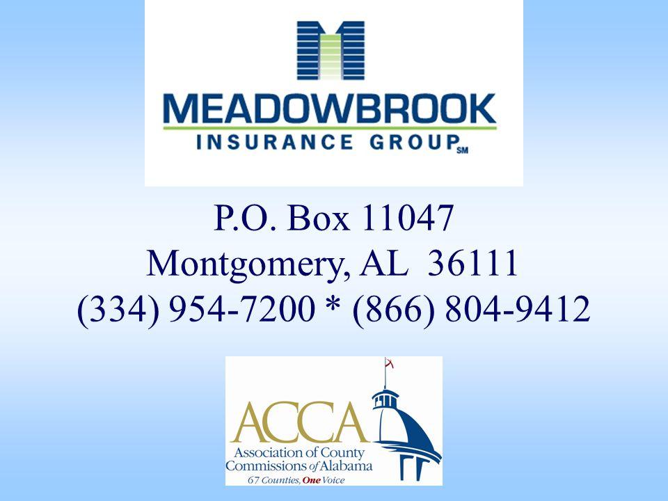 P.O. Box 11047 Montgomery, AL 36111 (334) 954-7200 * (866) 804-9412